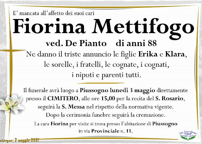 Mettifogo Fiorina: Immagine Elenchi