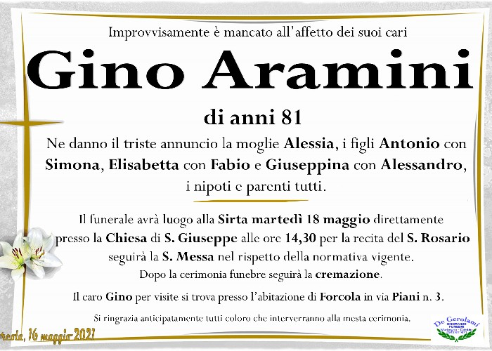 Aramini Gino: Immagine Elenchi
