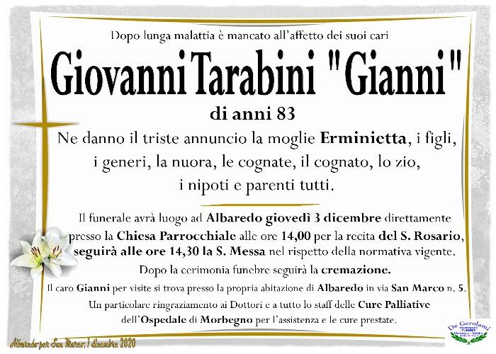 Tarabini Giovanni: Immagine Elenchi